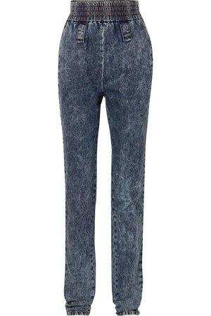 Miu Miu | High-rise tapered jeans | NET-A-PORTER.COM