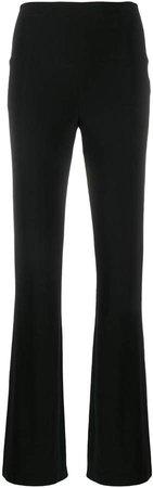 high waisted straight-leg trousers