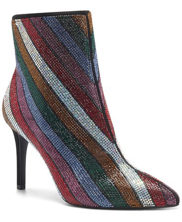 black INC International Concepts INC Women's Ingra Bling Booties, Created for Macy's & Reviews - Boots - Shoes - Macy's