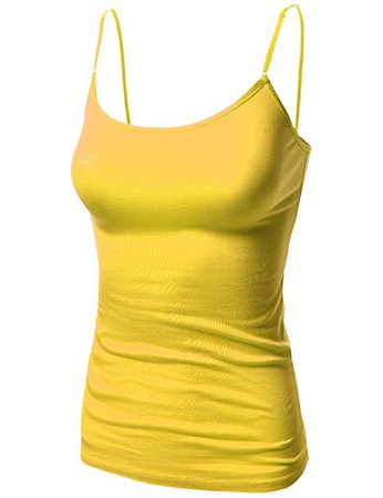 Awesome21 Women's Basic Solid Camisole Tank Tops with Adjustable Straps at Amazon Women's Clothing store: