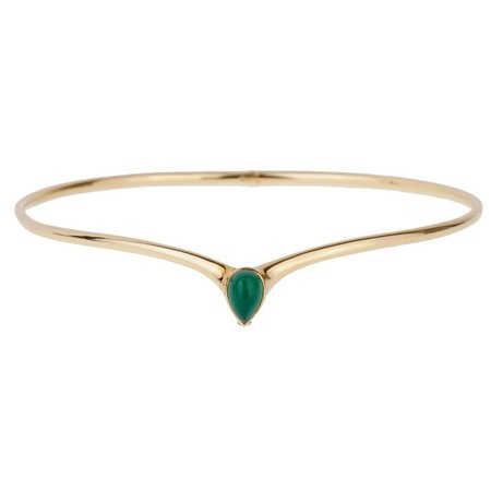 Van Cleef and Arpels | Chrysoprase gold choker necklace