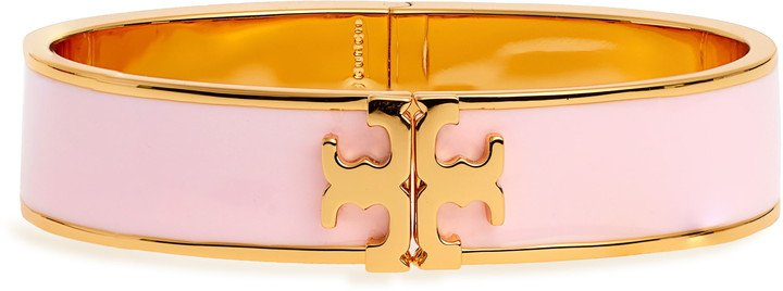 Raised Logo Enamel Hinge Bracelet