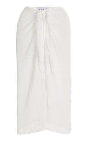 The Wrap Chiffon Midi Skirt By Anemos   Moda Operandi