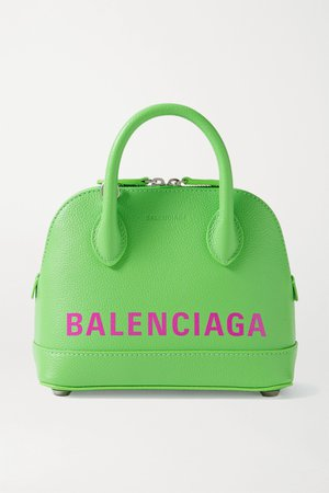 Green Ville XXS printed textured-leather tote | Balenciaga | NET-A-PORTER