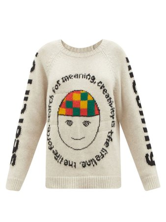 THE ELDER STATESMAN  Search for Meaning cashmere sweater
