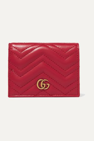 Gucci | GG Marmont small quilted leather wallet | NET-A-PORTER.COM