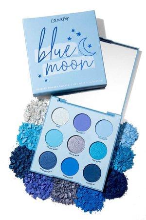 blue eyeshadow palette