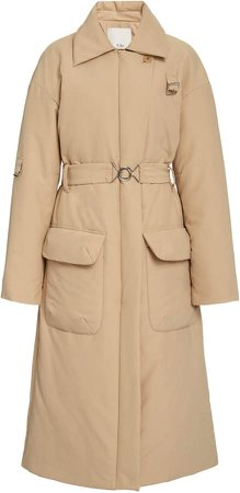 Tibi Lab Gabardine Trench Coat