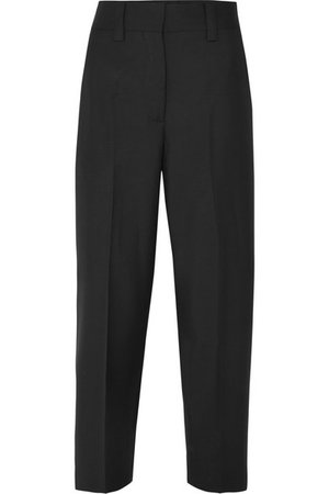 Acne Studios   Cropped wool and mohair-blend pants   NET-A-PORTER.COM