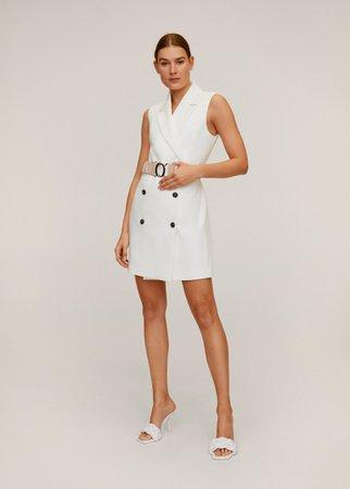 Double buttoned blazer dress - Women   Mango USA