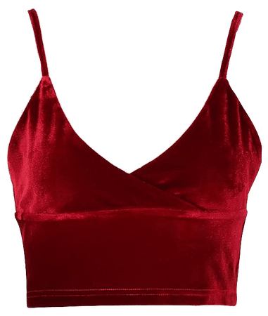 Red Velvet Cami Tank Top