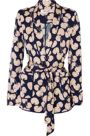 Diane von Furstenberg | Braelyn printed crepe jacket | NET-A-PORTER.COM