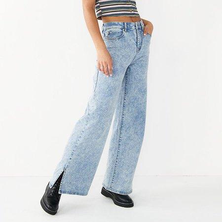 Juniors' SO® High Waist Wide Leg Jeans