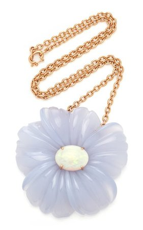 18k Rose Gold Chalcedony, Opal Necklace By Irene Neuwirth | Moda Operandi
