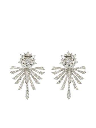 Yeprem 18kt white gold diamond earrings silver EA1870 - Farfetch