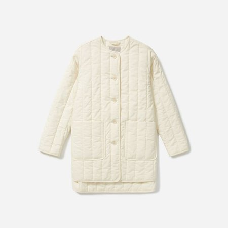 Women's Cotton Quilted Jacket   Everlane ivory