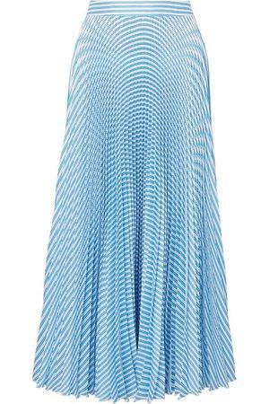 Paul & Joe | Solaire pleated striped satin-twill midi skirt | NET-A-PORTER.COM