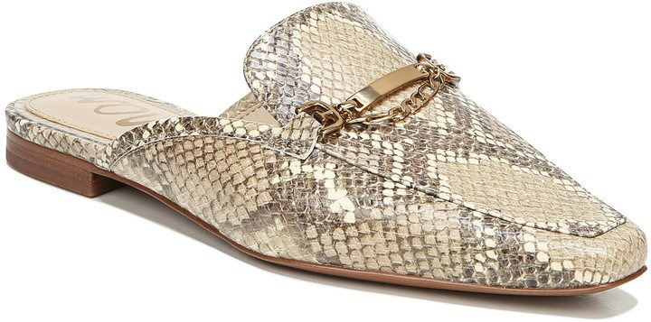 Evelan Chain Loafer Mule