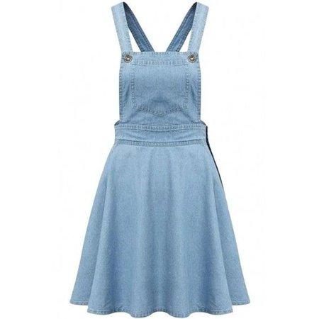 Light Blue Denim Overall Dress