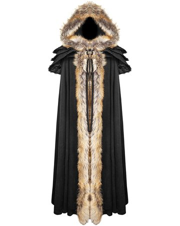 PUNK RAVE WINTERFELL WOMENS CLOAK - BLACK - Violent Delights