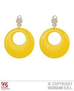 yellow 70's earrings