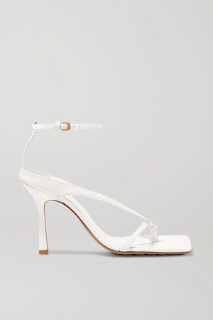 White Leather sandals | Bottega Veneta | NET-A-PORTER