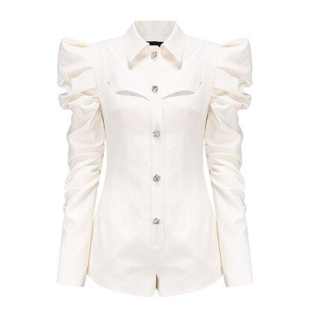White Soho Pleated Jumpsuit – Nana Jacqueline