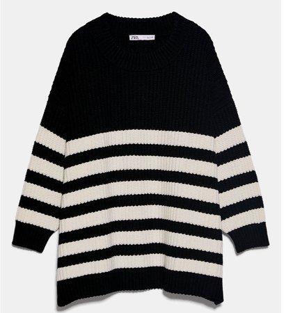 Zara oversized sweater striped