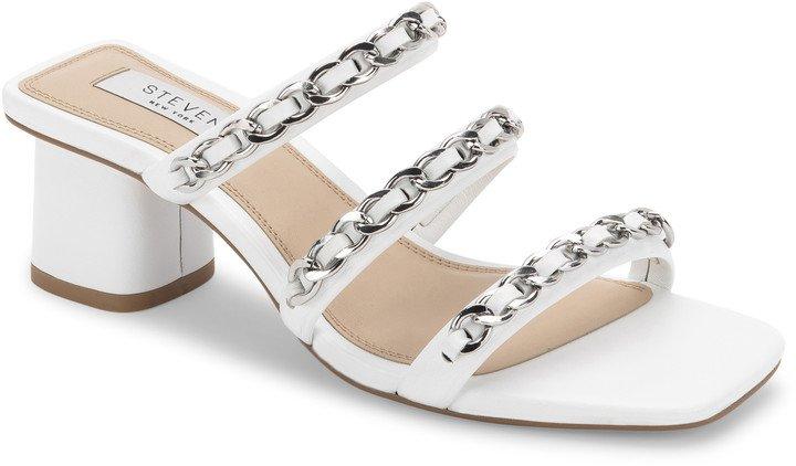 Links Block Heel Slide Sandal