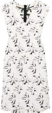 Crepe-jacquard Dress
