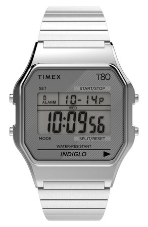 Timex® T80 Digital Expansion Band Watch, 34mm | Nordstrom