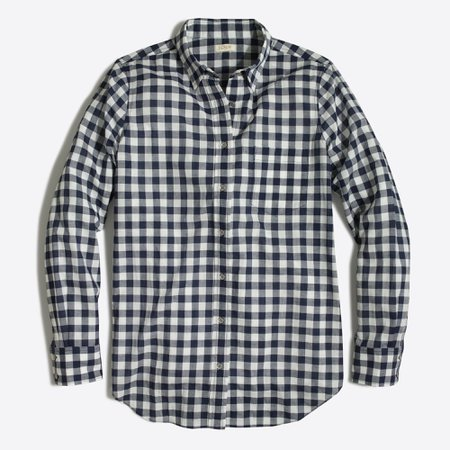 J.Crew Factory: Gingham Classic Button-down Shirt In Boy Fit