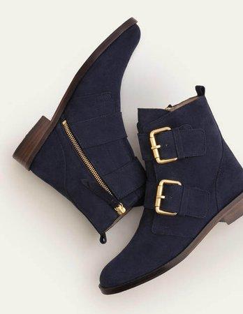 Cavenham Ankle Boots - Navy | Boden US