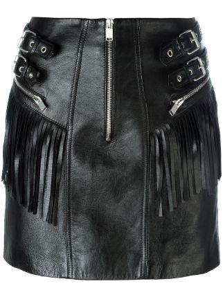 Saint Laurent Fringed Leather Mini Skirt ($2,850)