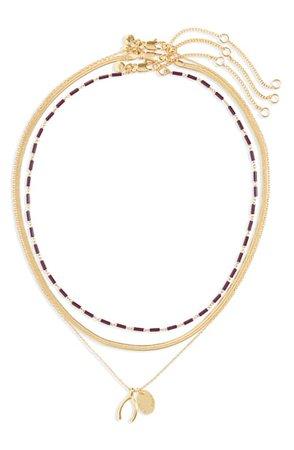 Madewell Wishbone Necklace Set | Nordstrom
