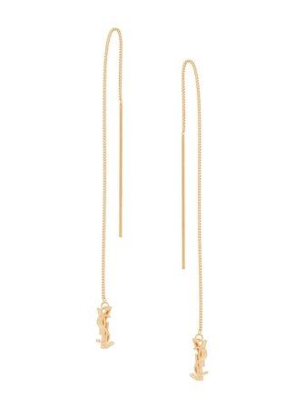 Saint Laurent Monogram Drop Earrings - Farfetch