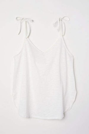 V-neck Camisole Top - White
