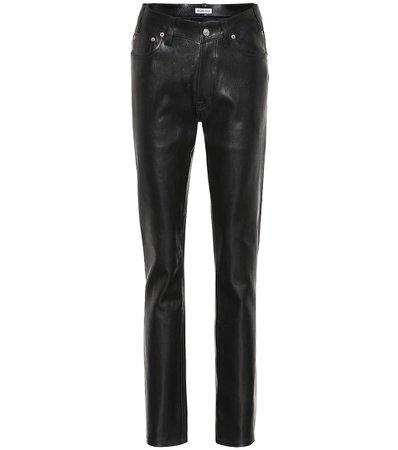 Balenciaga - Pantalon slim en cuir et coton | Mytheresa