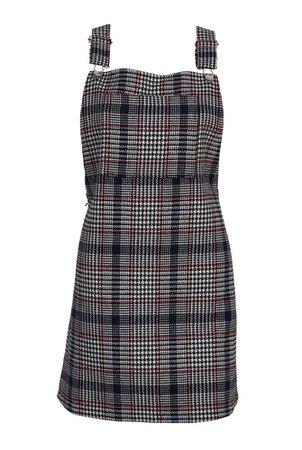 plaid jumper dress