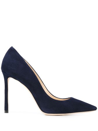 Jimmy Choo, Romy Blue Suede Pumps
