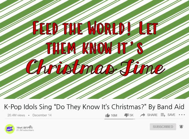K-pop Idols Sing Do They Know It's Christmas by Bandaid (Dei5)
