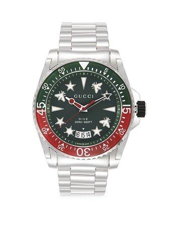 Shop Gucci Dive Stainless Steel Bracelet Watch | Saks Fifth Avenue