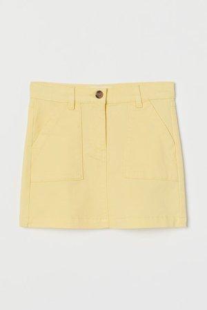 Cotton Twill Skirt - Light yellow - Kids | H&M US