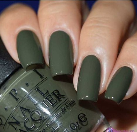 khaki green nails