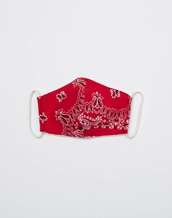 RE/DONE | Upcycled Bandana Mask in Red