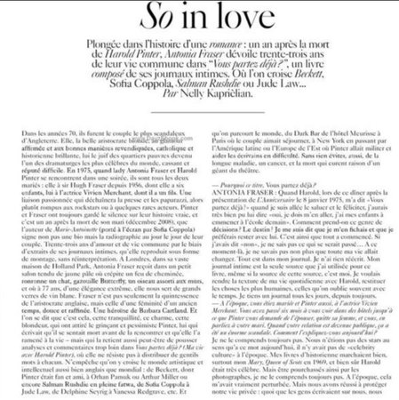 VOUGE NEWSPAPER | so in love
