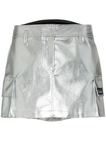 WE11DONE side pocket utility mini skirt