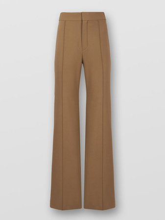 High Rise Flared Pants In Stretch Wool | Chloé NO