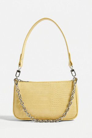 UO Chain Accent Croc Shoulder Bag | Urban Outfitters UK