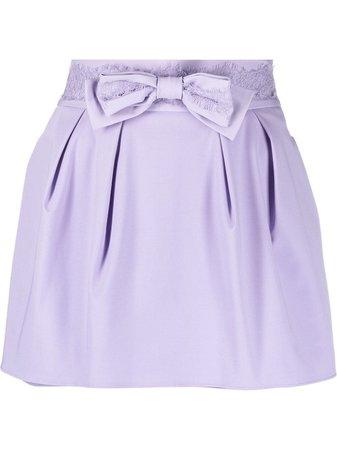 Elisabetta Franchi bow-detail lace-trim shorts
